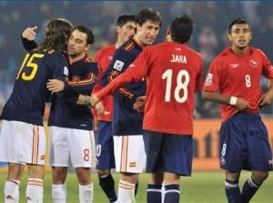 チリ対スペイン